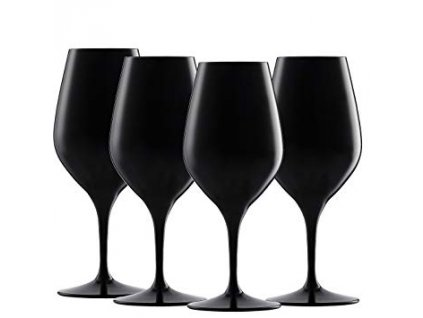 26178 nachtmann spiegelau set 4 ks pohar na vino authentis cierny
