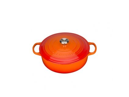 26253 le creuset liatinovy gourmet hrniec okruhly s pokrievkou 24 cm 3 1l oranzovy