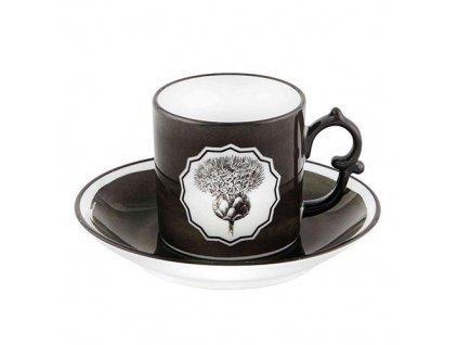 26442 vista alegre set 2 ks kavova salka s podsalkou black herbariare