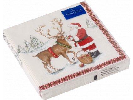 26565 villeroy amp boch servitky santa so sobom 33x33 cm winter specials