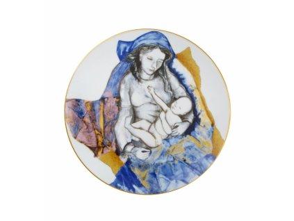 26709 vista alegre vianocny tanier maria a syn jezis 23 cm