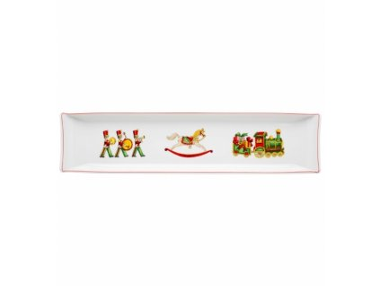 26712 vista alegre velky obdlznikovy servirovaci tanier hlboky 50x15 4 cm christmas magic