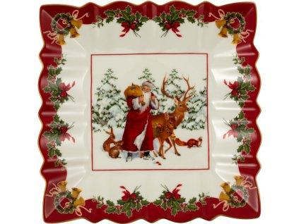 Toy's Fantasy - štvorcová misa Santa so zvieratkami - Villeroy & Boch