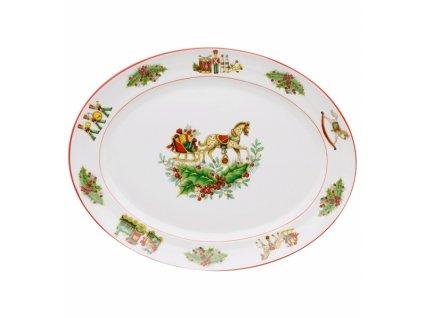26796 vista alegre stredny ovalny tanier 35 x 27 cm christmas magic