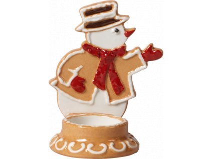 Villeroy & Boch - svietnik snehuliak - Winter Bakery Decoration