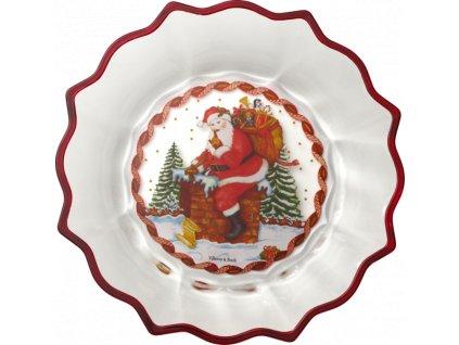 Christmas Glass Accerories - sklenená misa Santa, 25 cm - Villeroy & Boch