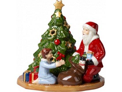 Christmas Toys - svietnik, Santa s darčekmi, 14,5 cm - Villeroy & Boch