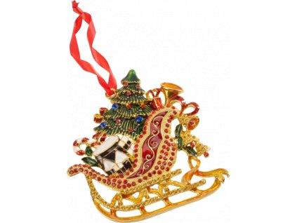Christmas Toys Accessoires - závesná ozdoba sane, 12 cm - Villeroy & Boch