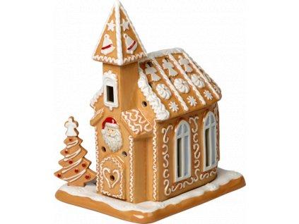 Villeroy & Boch - svietnik medovníkový kostol - Winter Bakery Decoration