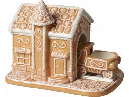 Villeroy & Boch - svietnik medovníková stanica - Winter Bakery Decoration