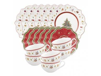 -15% Villeroy & Boch: Vianočný kávový set 18 ks pre 6 osôb, biely
