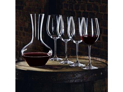 Nachtmann - Karafa + 4 Poháre na červ.víno Set - Vivendi