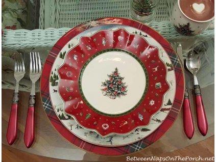 -15% Toy's Delight - Obedový set 18 ks tanierov, červený + polievková misa 2,5l - Villeroy & Boch