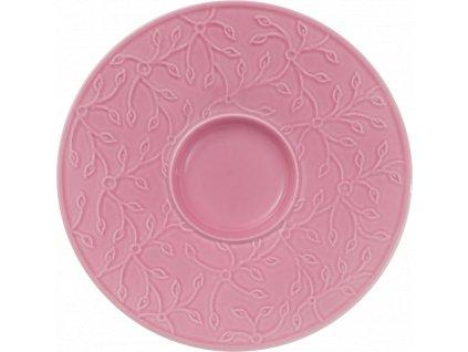 Caffe Club - Floral Touch Rose podšálka k šálke na kávu 14 cm