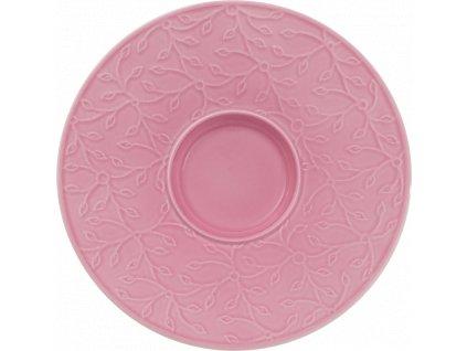 Caffe Club - Floral Touch Rose podšálka na kávu 17 cm