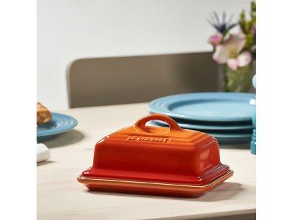 Le Creuset  - dóza na maslo - oranžová