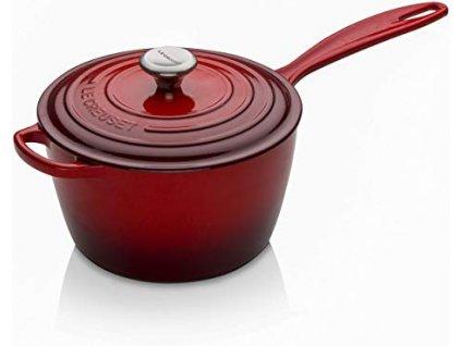 Le Creuset  -  Liatinový hrniec s rúčkou, 20 cm - červený