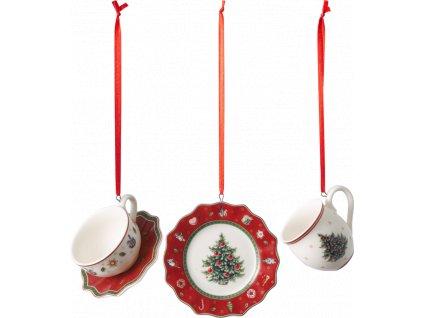 Toy's Delight Decoration - Ornament set 3ks, červený - Villeroy & Boch
