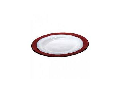 Zafferano - sklenený tanier Strip, ametyst