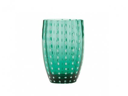 Zafferano - pohár Perle tmavo zelený