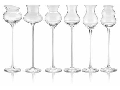 IVV - Poháre na destilát - číre sklo, set 6 ks