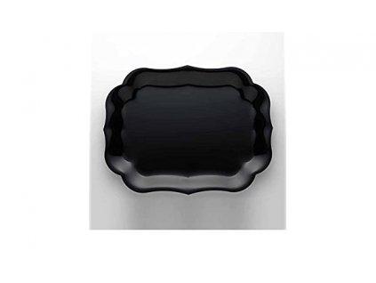 Mario Luca Giusti - veľký podnos Gioconda 44x58 cm, čierny - Posledný kus