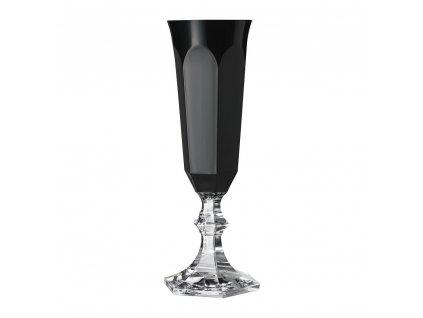 Mario Luca Giusti - pohár Dolce Vita - čierny na  šampanské