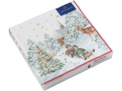 Villeroy & Boch - servítky Sánkovačka, 25x25 cm - Winter Specials