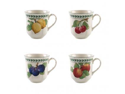 French Garden Modern Fruits - set štyroch hrnčekov - Villeroy & Boch - posledný set v akcii