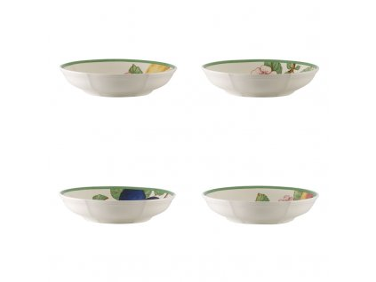 French Garden Modern Fruits - set štyroch plytkých misiek - Villeroy & Boch