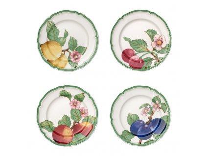 French Garden Modern Fruits - set štyroch plytkých tanierov - Villeroy & Boch