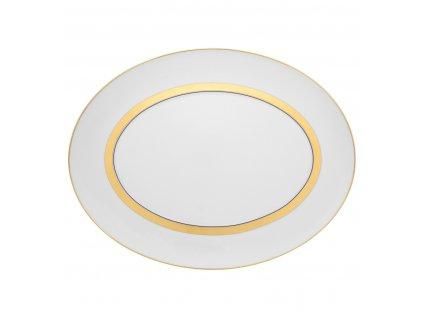 Vista Alegre - malý oválny tanier 34,7 cm - Domo Gold