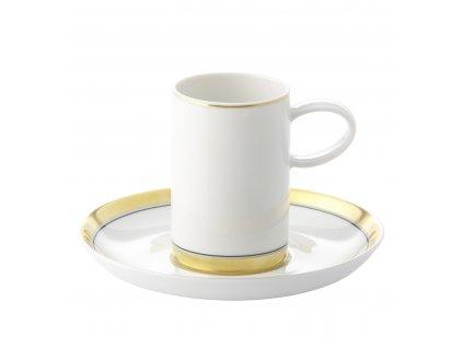 Vista Alegre - kávová šálka 0,1l a podšálka - Domo Gold