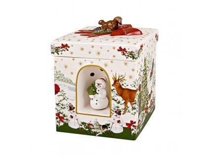 Christmas Toys - hracia krabica, veľká, 16 x 16 cm, Snehuliak - Villeroy & Boch