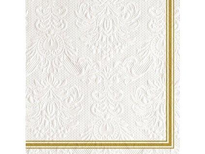 Servítky Elegance Lea White/Gold 33x33 cm