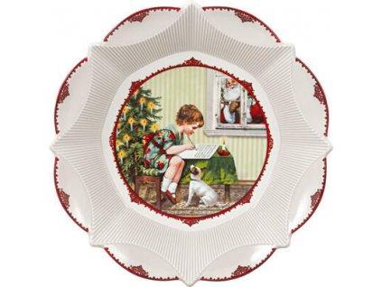 23598 1 mala miska vianocny list 17 cm toy s fantasy