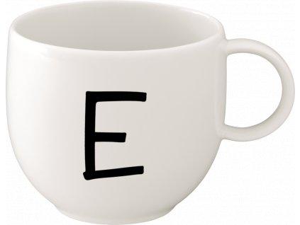 Villeroy & Boch - hrnček 0,4l (písmeno E) - Letters