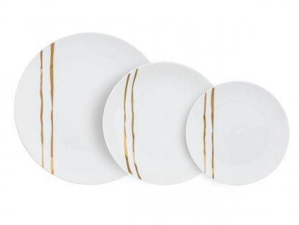 Villa Altachiara - Sada porcelánových tanierov 18ks - Zenzer