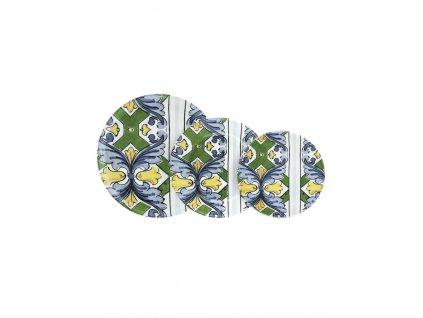 96895 servizio piatti ceramica sottosmalt