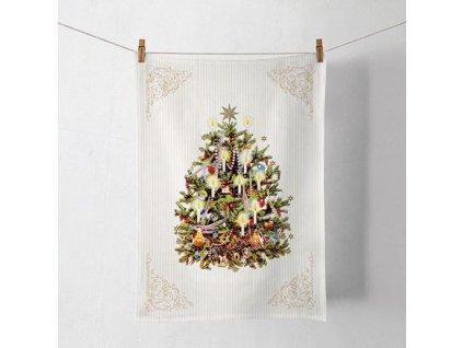 Kuchynská utierka - Vianočný stromček  50 x 70 cm