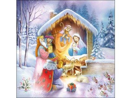 Servítky  Nativity 33x33 cm