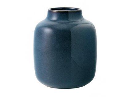23761 1 vaza nek bleu uni 12 5 x 15 5 cm lave home