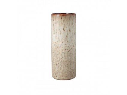 Lave Home - Váza CYLINDER, BEIGE 7,5 X 20 CM