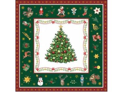 Servítky Christmas Evergreen Green-veľké,33 x 33 cm - Ambiente Europe BV