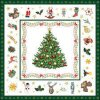 Servítky Christmas Evergreen White-veľké,33 x 33 cm - Ambiente Europe BV