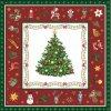 Servítky Christmas Evergreen Red-veľké,33 x 33 cm - Ambiente Europe BV