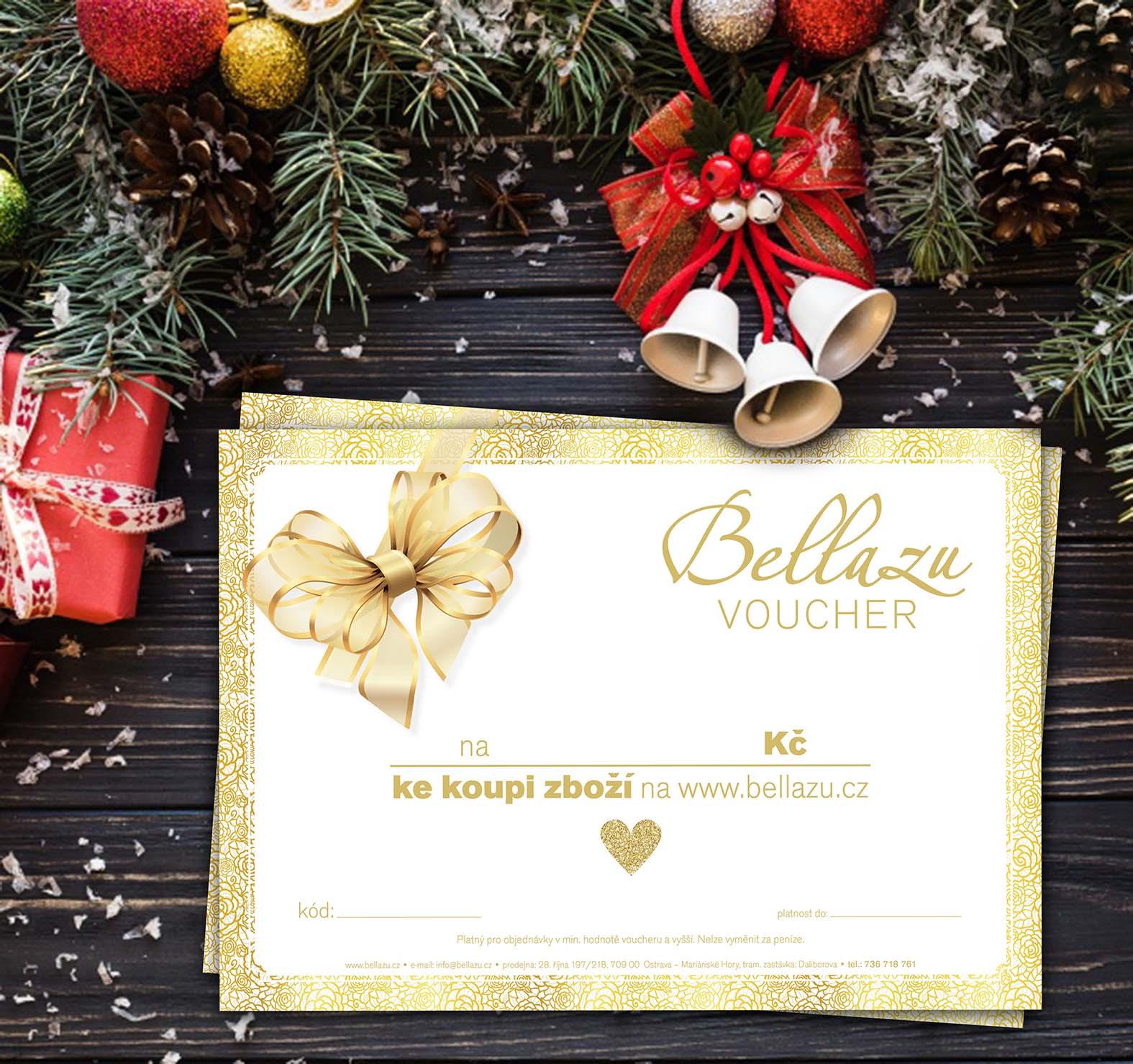 Krásné dárky k Vánocům mohou být dárkové poukazy od Bellazu