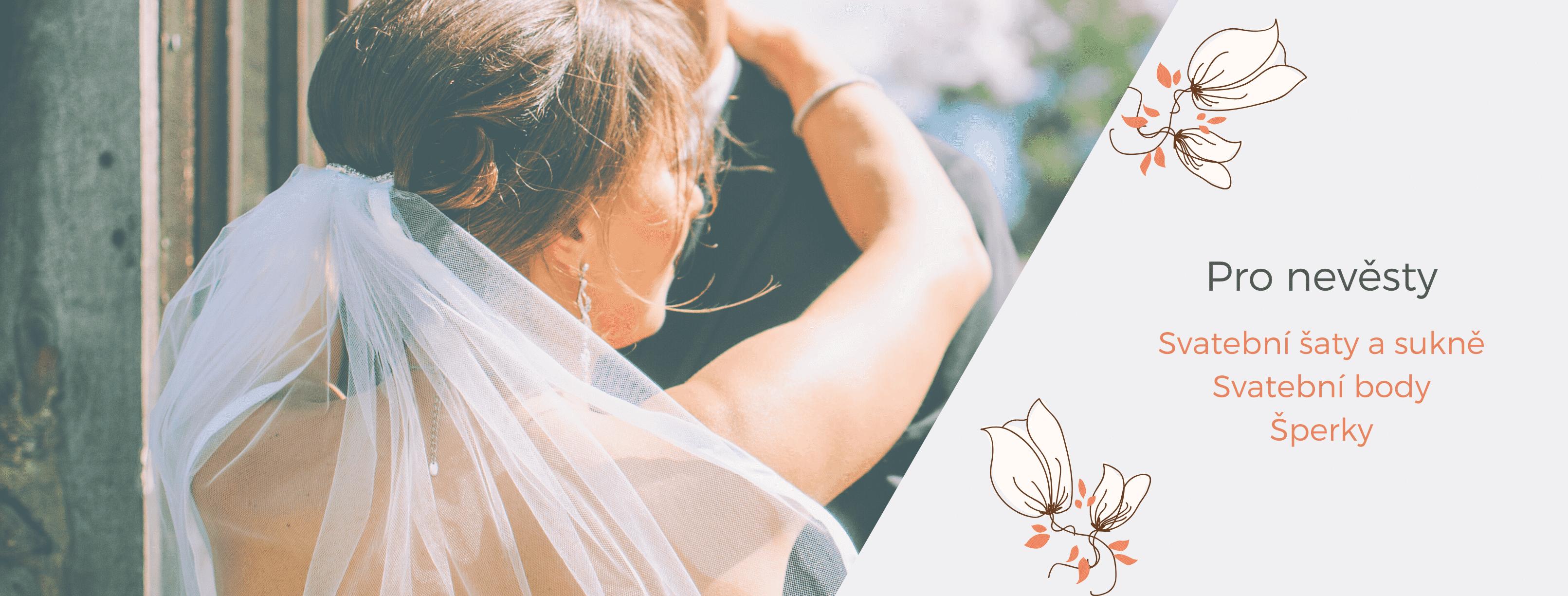 Svatební sukně, šaty, body a šperky pro nevěsty