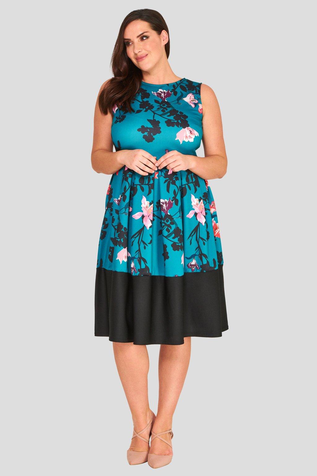 ... Okouzlující šaty Foil tyrkysově modré 2 ... c0f7c7bba6f