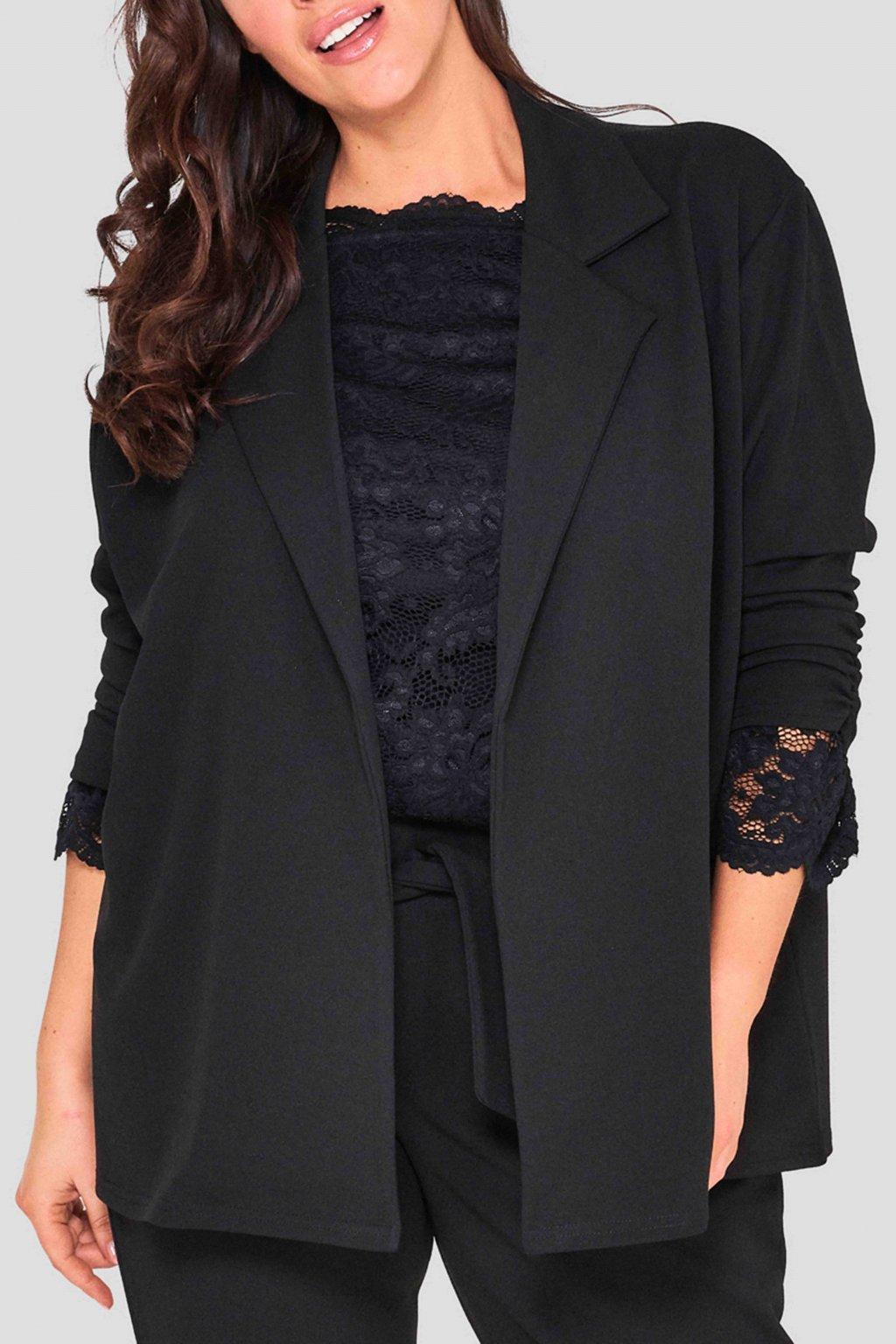 Elegantní sako Ratby černé 2